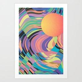 Magnetic Storm Art Print