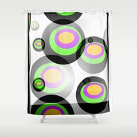 psychedelic Shower Curtains featuring Psychedelic by Vivian Fortunato