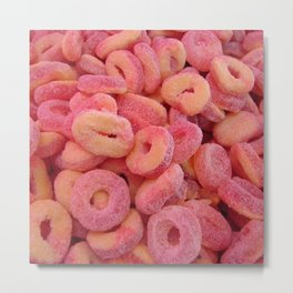 Strawberry and Peach Gummys Metal Print