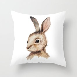 Pensive Easter Bunny  Throw Pillow