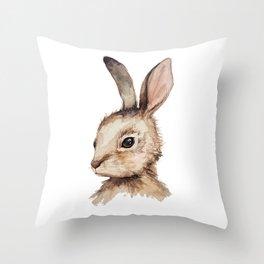 Pensive Easter Bunny  Throw Pillow