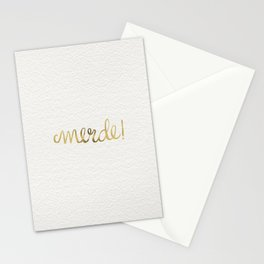 Pardon My French – Gold Ink Stationery Cards
