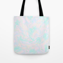BLUE AND PINK PAINT SWIRL Tote Bag