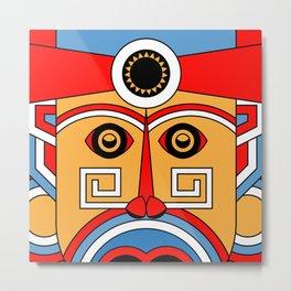 geometric tribe people Metal Print