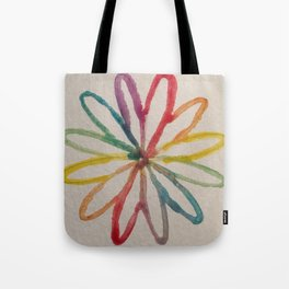 Spirograph Rainbow flower Tote Bag