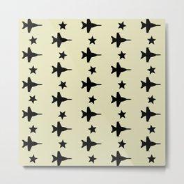 F-18 Hornet Fighter Jet Pattern Metal Print
