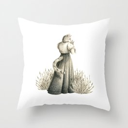 Victorian Cat Series 04 Throw Pillow