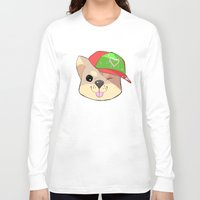 shiba Long Sleeve T-shirts featuring fashion shiba by Donald