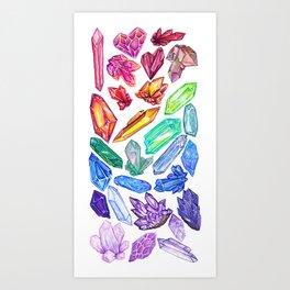 Crystal Rainbow Pride Art Print