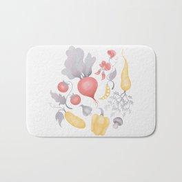Vegetables (pastel) Bath Mat