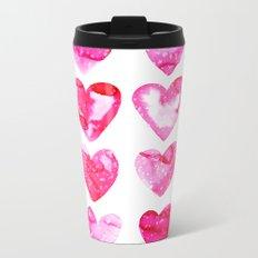 Heart Speckle Metal Travel Mug