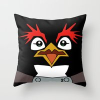 evangelion Throw Pillows featuring Neon Genesis Evangelion Pen Pen by JAGraphic
