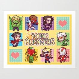 Young Avengers Art Print