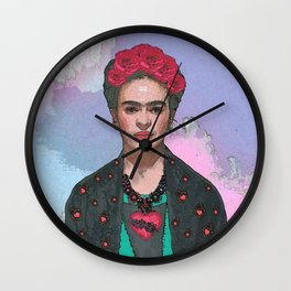 Trendy Frida Kahlo-Ferwell Wall Clock