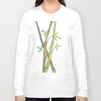 bamboo Long Sleeve T-shirts featuring Bamboo by Alexandra Sutherland