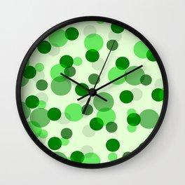 Green Spots Wall Clock