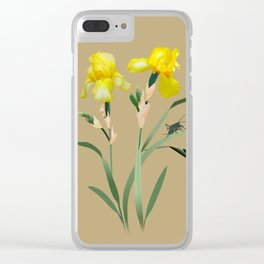 Yellow Iris and Cricket Clear iPhone Case