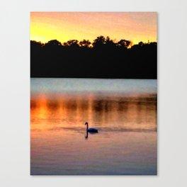 Swan Sunset Canvas Print