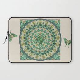 Luna Moth Meditation Mandala Laptop Sleeve