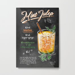Drinks And Cocktails Mint Julep Metal Print