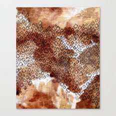 The skin of Cheetah Canvas Print