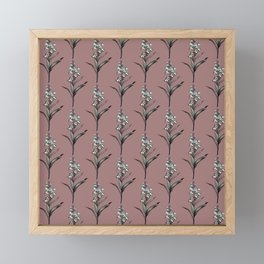 Snapdragon repeat Framed Mini Art Print