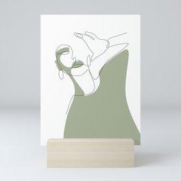 Olive Selfie Mini Art Print