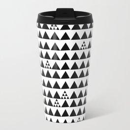 Black geometric print Travel Mug