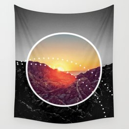 Peel Sunset - Circle graphic Wall Tapestry