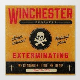 Supernatural Matchbook Advertisement Canvas Print