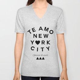 (EXTRA BOLD) TE AMO NEW YORK CITY (forever & ever) Unisex V-Neck
