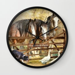 Featherwell Farm Wall Clock