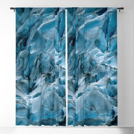 Blue Ice Glacier in Norway - Landscape Photography Blackout Curtain