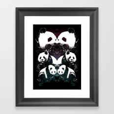 PANDA COLLIDE Framed Art Print