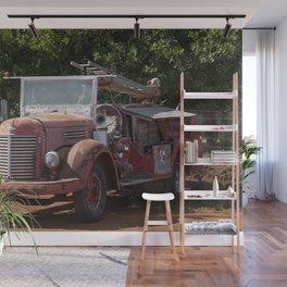 Antique Fire Truck Wall Mural