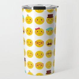 Cheeky Emoji Faces Travel Mug