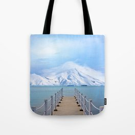 Meet me in the middle Tote Bag