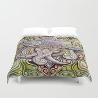 ganesh Duvet Covers featuring Ganesh by Keith Prossick