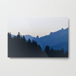 Mountains at Dawn Metal Print