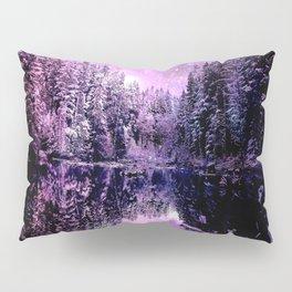 A Cold Winter's Night : Purple Lavender Winter Wonderland Pillow Sham