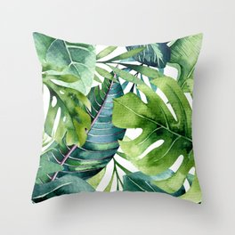 Tropical Jungle Leaves Deko-Kissen