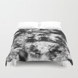 Black and White Tie Dye & Batik Duvet Cover