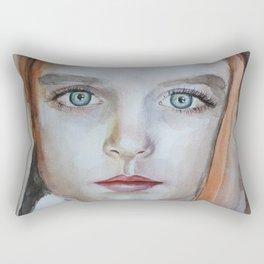 Artwork watercolor portrait Mckenna Grace Rectangular Pillow