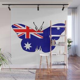 Australian Flag - Butterfly Wall Mural