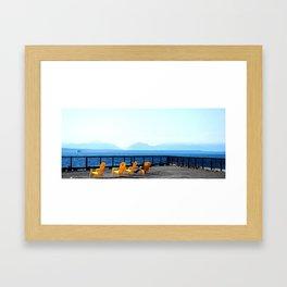 Seattle Pier Framed Art Print