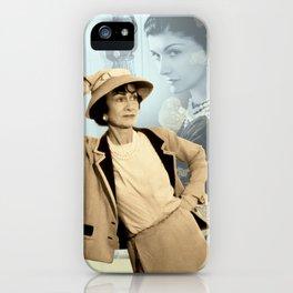 Mademoiselle Collage Portrait iPhone Case