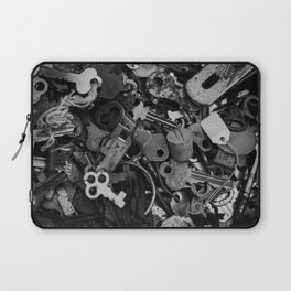 Black and White Keys Laptop Sleeve