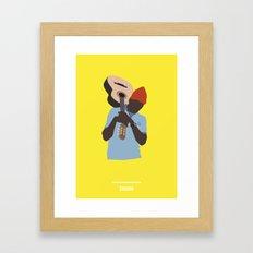 ZISSOU ( The Life Aquatic ) Framed Art Print