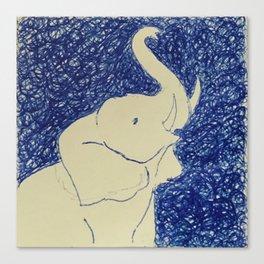 Elephant Doodle # 2 Canvas Print