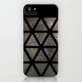 Galaxy Triangular Bicolor iPhone Case